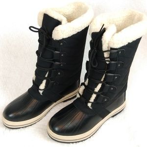 Sociology Women's 8 Black Shearling Lined Boots